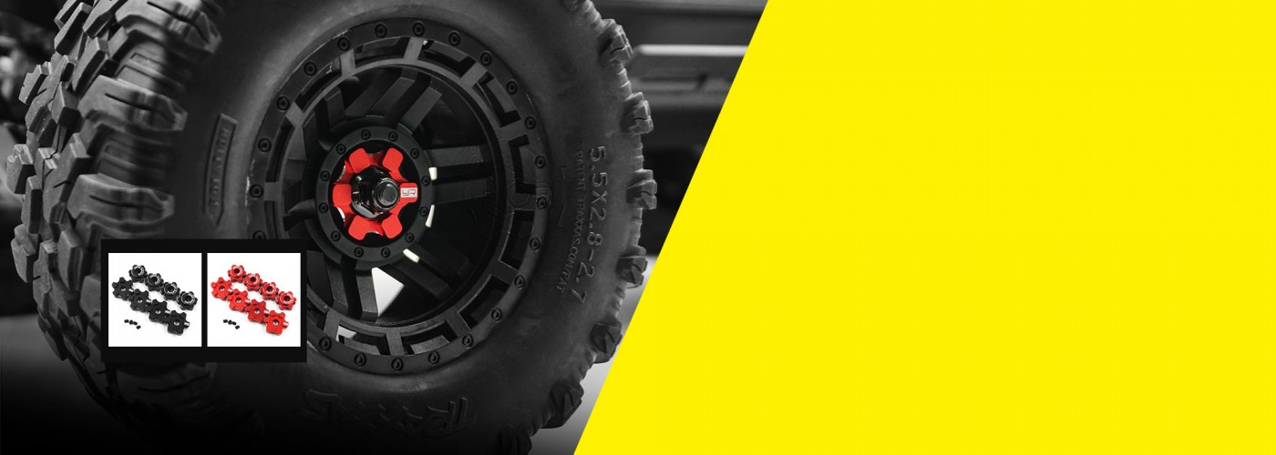 yr yeah racing aluminum 7075 17mm wheel hex set for traxxas maxx 1/8 rc car